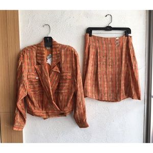 VINTAGE JUDY HORNBY Two Piece Jacket & Skirt
